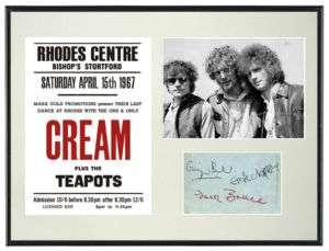 Cream Eric Clapton Memorabilia Poster & Autographs