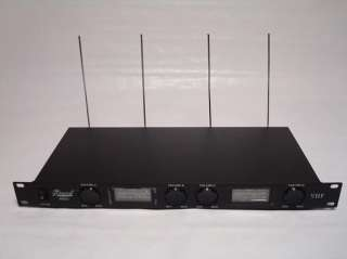 Deluxe 4 Channel VHF wireless Microphone Mic System