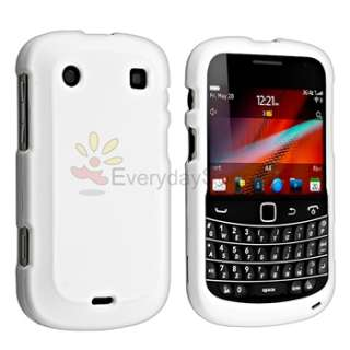 For Blackberry BOLD 9900 9930 White Hard Rubber Case