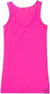 plain neon COLORS VEST/DRESS TANK t shirt party nu rave