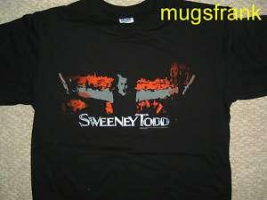 New Sweeney Todd Movie Bloody Razor Johnny Depp T Shirt