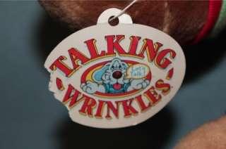 Wrinkles 15 TALKING Dog Plush Toy Doll Vintage 1986