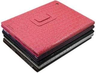 Crocodile Skin PU Leather Case Cover Stand For Apple iPad 2