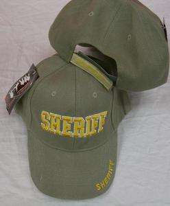 GREEN OR BLACK SHERIFF EMBROIDERED HAT ball cap cop A21