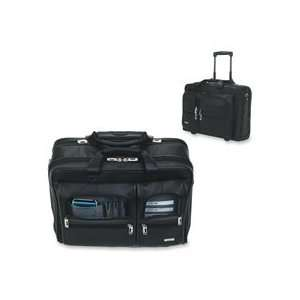 US Luggage Products   Leather Laptop Rolling Case, Holds