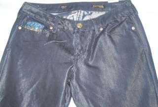 Women Express Jeans Stella Bootcut Blinged Shiny Wet 6