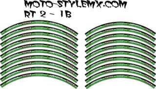 YZ WRf YZf KX KXf KLX CR CRf RM RMz DRz KTM 125 250 450 Rim stickers