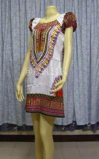 Cotton BOHO Hippy Dashiki Dress US4/UK6 Size S