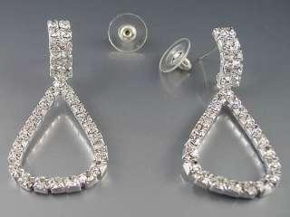 Lots 12Pairs Mixed Styles Crystal Rhinestone Earrings