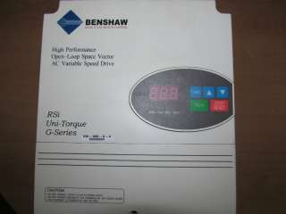 Benshaw Space Vector AC Variable Speed Drive VFD RSi 005 G 4 5HP 460