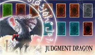 judgment dragon iii yugioh custom made play mat limited collectible
