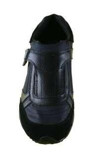 Diesel Mens Shoes Harold Keep Slip On Black Leather Fashion Sneakers