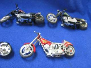 Lot of 8 Die Cast Model Bikes Collectibles West Coast Chopper & Harley