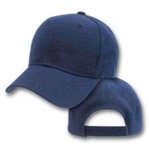 New 12 Blank Navy Blue Baseball Hat Cap Velcro Adjust