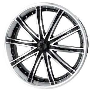 Inch 20x8.5 Dip wheels ICE D67 Machined Black wheels rims: Automotive