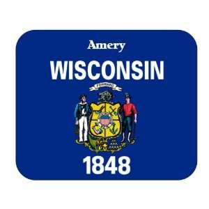 US State Flag   Amery, Wisconsin (WI) Mouse Pad