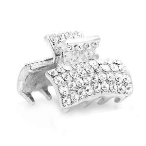 Perfect Gift   High Quality Trendy Hair Clip in Silver