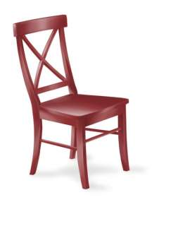 Eco Friendly Ink Well Cross Back SIDE CHAIR Solid Hevea Wood 40 Colors