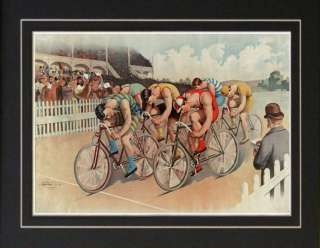 1896 Bicycle Racing Cycling Bike Tour De France Print