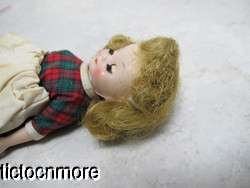 VINTAGE BETSY McCALL DOLL STRAWBERRY BLONDE PLAID HOLIDAY CHRISTMAS