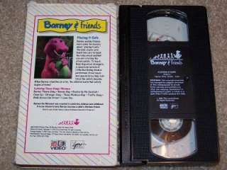 Barney and Friends Time Life Video VHS #1 Playing It Safe Tested