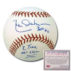 Leon Durham Chicago Cubs Hand Signed Rawlings MLB Baseball with 2x All