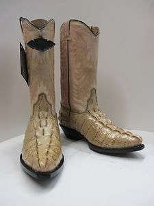 WOMENS CROCODILE ALLIGATOR TAIL DESIGN WESTERN COWBOY BOOTS SHOES