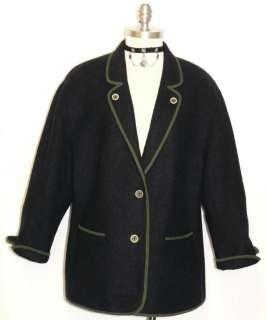BLUE ~ WOOL + ALPACA / Austria Women WINTER WARM Sweater JACKET Coat