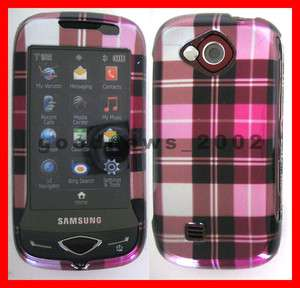 for Verizon Samsung U370   Pink Checker Hard Case Phone Cover