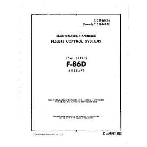 com North American Aviation F 86 D Aircraft Maintenance Manual North