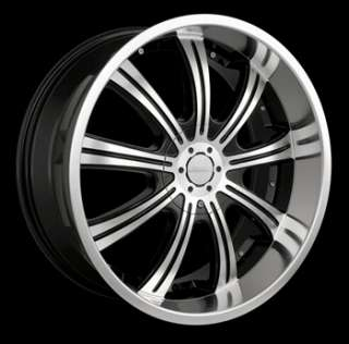 20x8.5 Machined Black Wheel Veloche Vapor 6x135 6x5.5