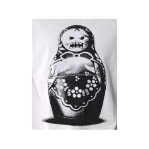 Evil Matryoshka Russian Doll   Pop Art Graphic T shirt