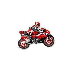 36 Moto Racing Bike Red   Mylar Balloon Foil Health