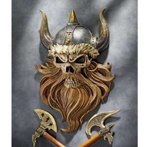 Toscano CL5827 The Skull of Valhalla Viking Warrior Wall Statue: Home
