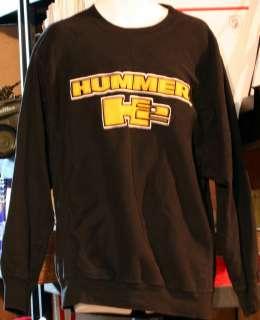 HUMMER H2 SWEATSHIRT SWEAT SHIRT LARGE