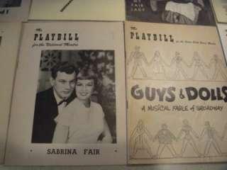 15 BROADWAY THEATRE PLAYBILLS 1940s & 1950s DAMN YANKEES KISMET GUYS