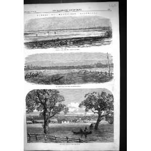 1864 Floods Melbourne Australia Emerald Hill Railway Kilda