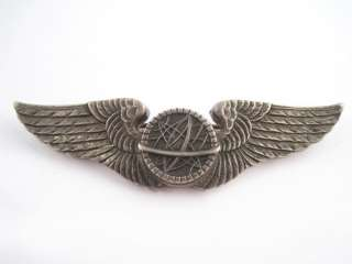 Uncommon WWII World War II Sterling Silver Air Force Navigator Wings