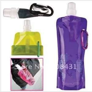 sports water bottle foldable bottle eco friendly plastic water bag