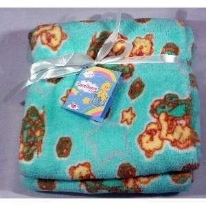 IDM Group Care Bears Fleece Baby Blanket   Light Green Baby
