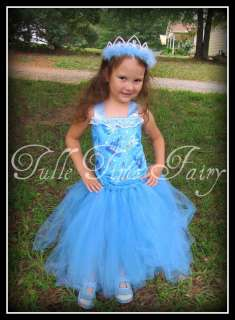 Princess Cinderella corset tutu dress tiara 12 mo   5/6