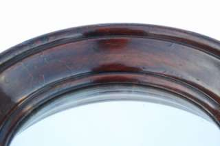 Victorian mahogany round mirror,turn of the century.