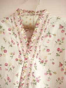 Chic Japanese Style Rose Cotton Bath Gown Robe PINK