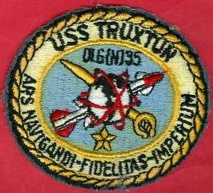 NAVY U.S.S. TRUXTUN DLG(N)35 SHIP PATCH