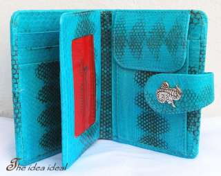 SNAKE SKIN LEATHER LADIES CLUTCH WALLET NEW + Gift bag