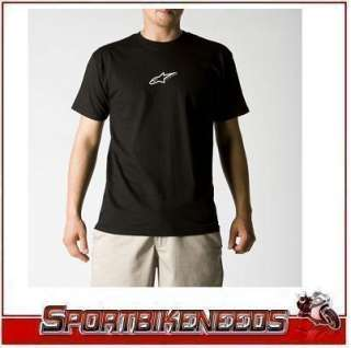Alpinestars Astar Black White T Shirt New Medium MD