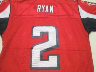 NFL Reebok Atlanta Falcons Matt Ryan Youth On Field Jersey Red *NEW