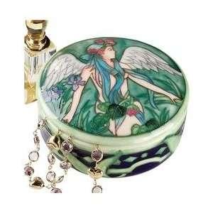 Nouveau angel statue Jewelry treasure Box Sculpture New