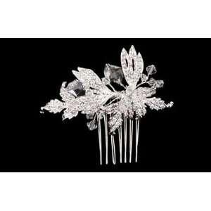 Silver Rhinestone Leaf Bridal Side Comb S2209 Beauty