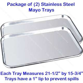 MAYO STAINLESS STEEL TRAY MEDICAL DOCTOR DENTIST BEAUTY SPA SALON